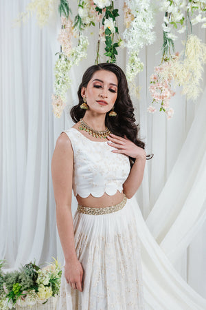 white skirt for wedding