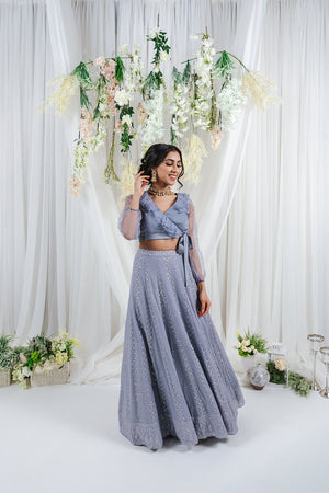 powder blue lehenga with lucknowi embroidery
