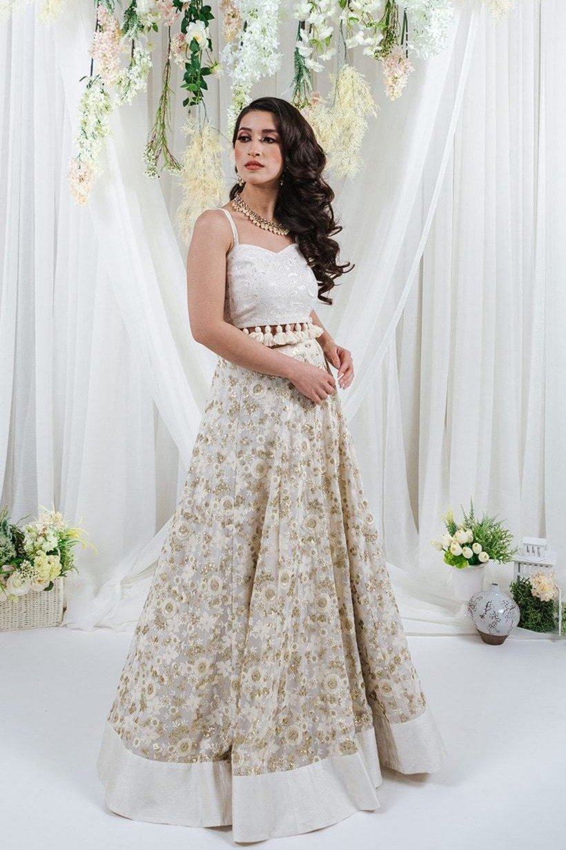 white lehenga for indian wedding