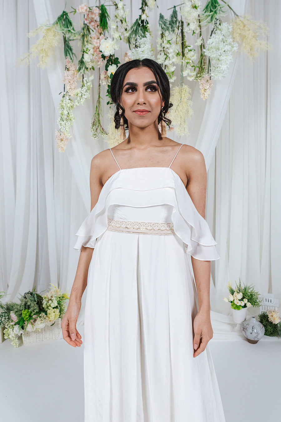 ivory jumpsuit for wedding