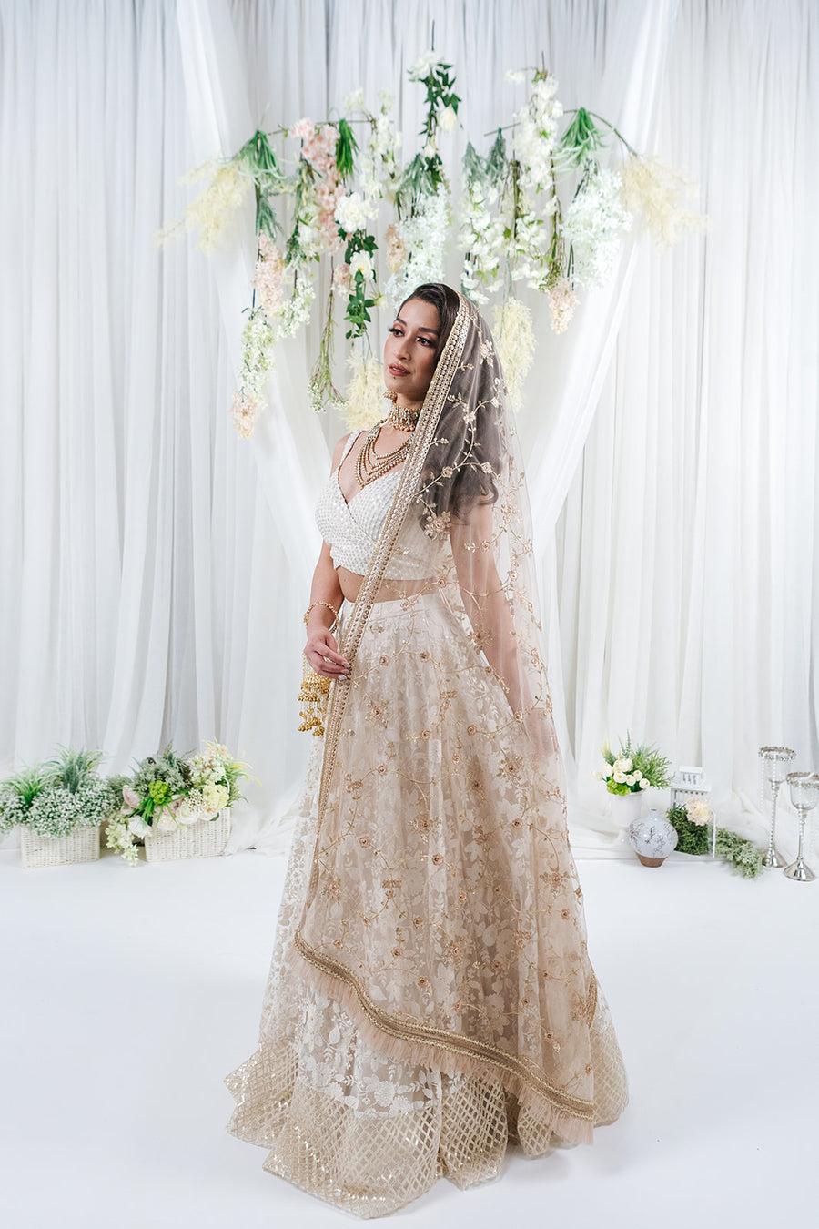 bridal dupatta for indian wedding