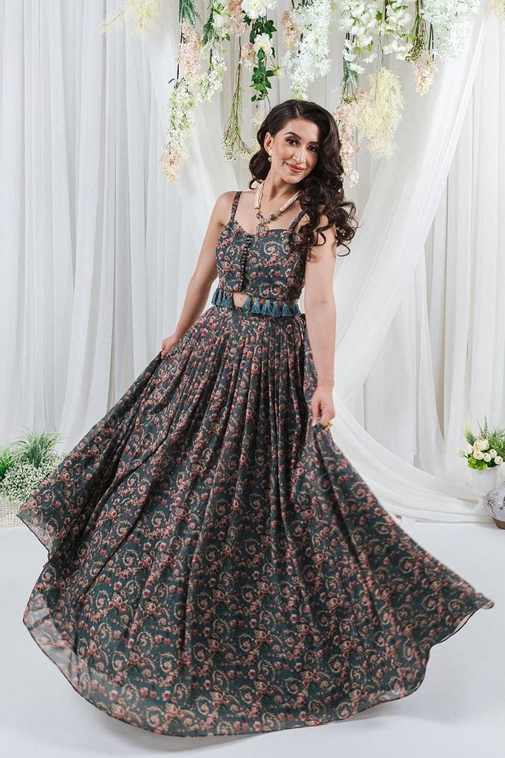 print lehenga for indian wedding