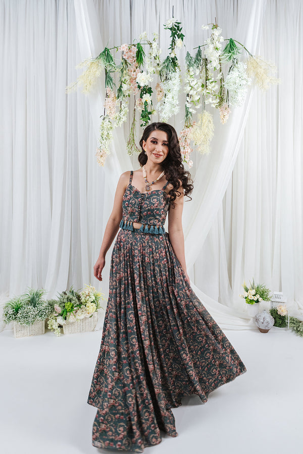 print skirt lehenga for punjabi indian wedding