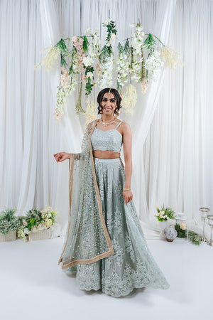 pastel bridal lehenga for indian wedding