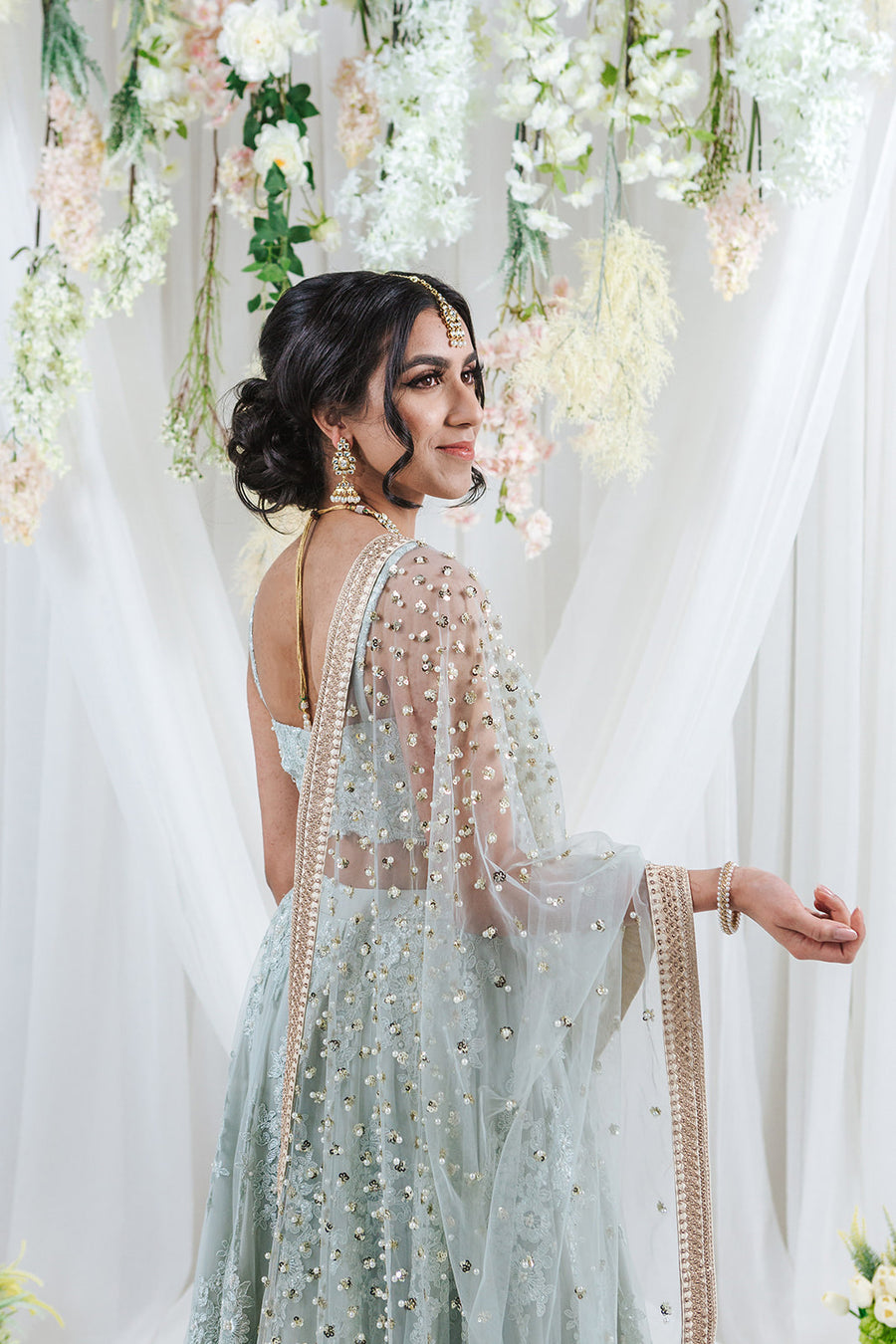 pastel engagement lehenga for indian wedding