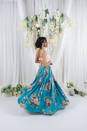 print skirt for indian wedding