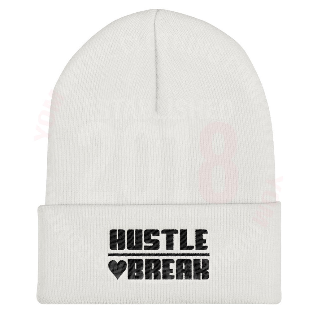 Heart Shape Hustle over Heartbreak Beanie Cap
