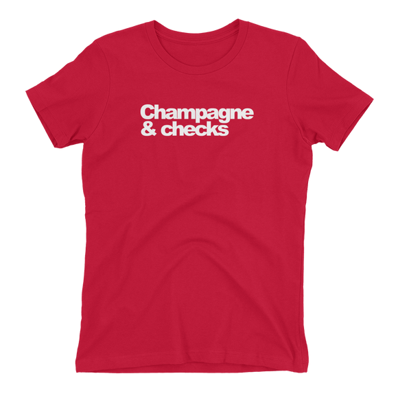 Champagne & Checks Womens Tee