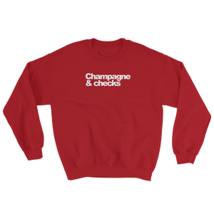 Champagne & Checks Womens Sweatshirt