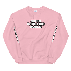 Girls Who Like Curls Sweatshirt