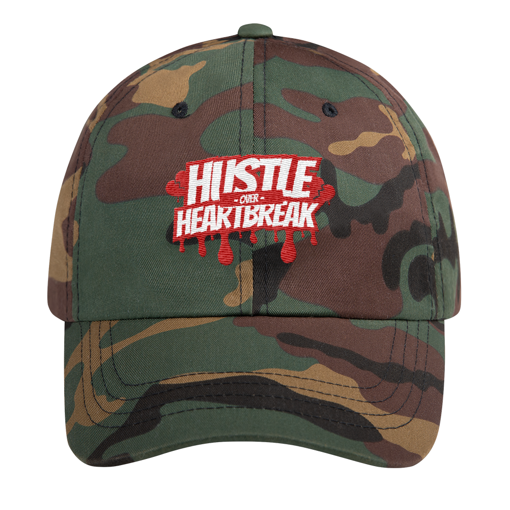 Hustle Over Heartbreak Drip Dad Hat
