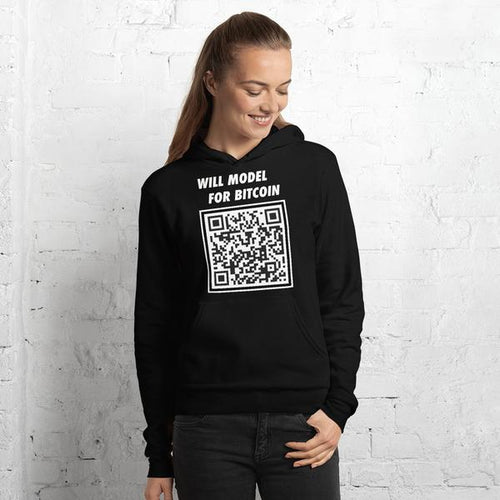 Will Model for Bitcoin Unisex Hoodie