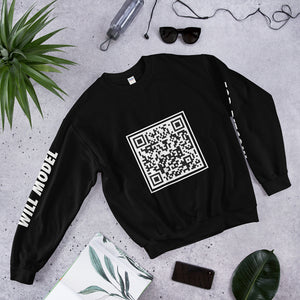 Will Model for Bitcoin Unisex Sweatshirt