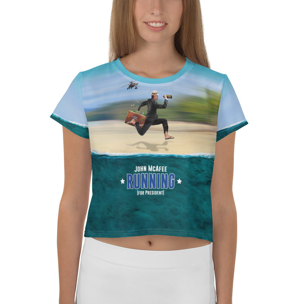 Running for President Crop Top