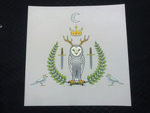 Load image into Gallery viewer, Owl King Square Art Print