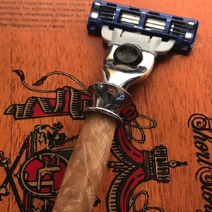 Hand-turned Maple Burl Razor