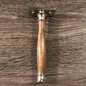 Hand-turned Black Walnut Razor - Mach3, Fusion, or Safety