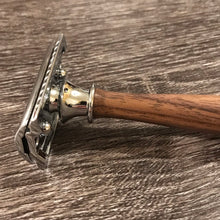 Load image into Gallery viewer, Hand-turned Black Walnut Razor - Mach3, Fusion, or Safety