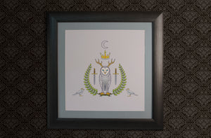 Owl King Square Art Print