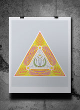 Load image into Gallery viewer, Owl King Geometry Fine Art Print by Jeremy Wright