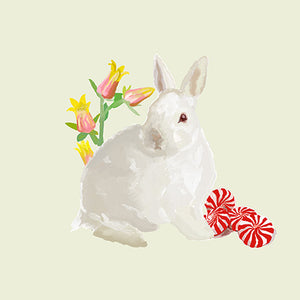 Pepper the Bunny Rabbit 12x12 Giclee Fine Art Print by Jil Wright