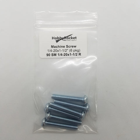 Machine Screws 1/4-20 x 1 1/2""