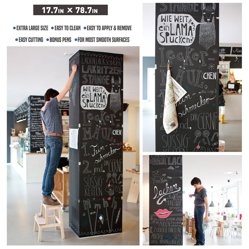Nicpro Self Adhesive Chalkboard Contact Paper Black 17 7 X