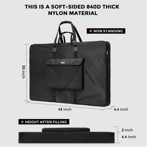 Nicpro Art Portfolio Bag 24 x 36 Inches Waterproof Artist Carrying Bag Soft Sided with Strap,Storage for Artwork Sketch Drawing Photography