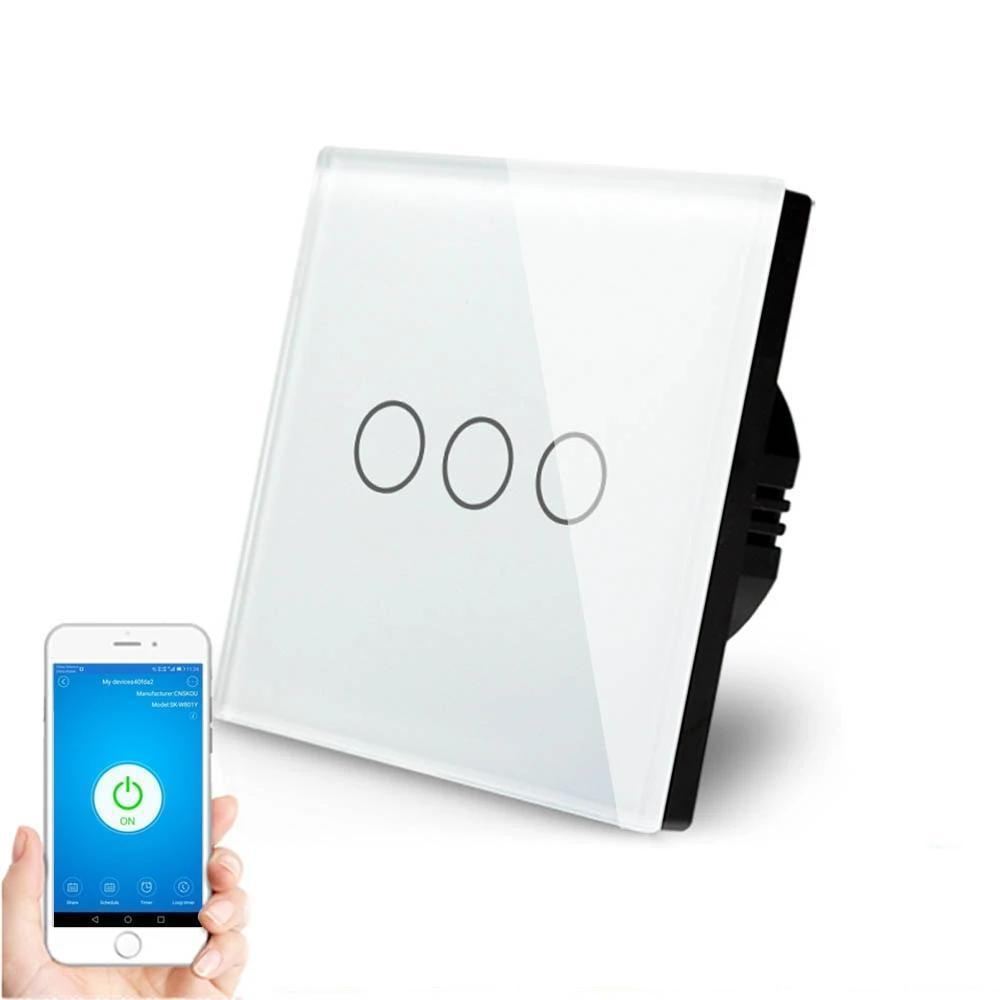 Smart Interruptor Wifi Touch Screen Wallpad 3 Teclas - Frete Gratis