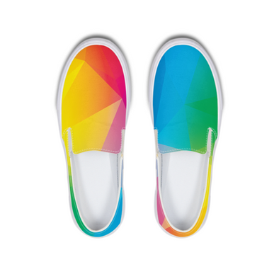 Pride 1 Slip-On Canvas Shoe - LuvArt Shoes Art Inspired and Custom Footwear Giving Back to the World