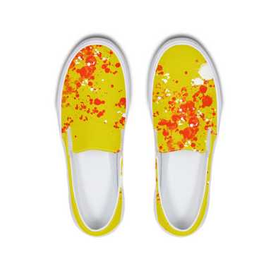 yellow splatter Slip-On Canvas Shoe