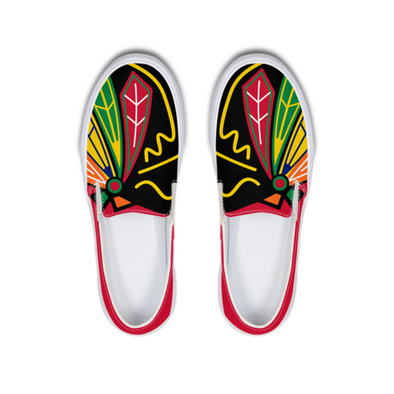 Hawks Four Feathers Slip-On Canvas Shoe - LuvArt Shoes Art Inspired and Custom Footwear Giving Back to the World