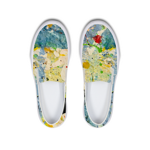 Splatter My Soul Slip-On Canvas Shoe - LuvArt Shoes Art Inspired and Custom Footwear Giving Back to the World