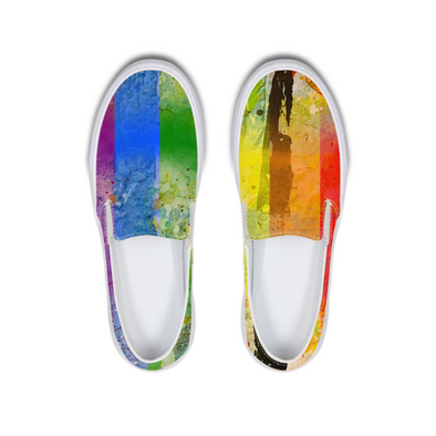 Pride 2 Slip-On Canvas Shoe - LuvArt Shoes Art Inspired and Custom Footwear Giving Back to the World