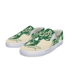 Fear The Deer 2 Slip-On Canvas Shoe - LuvArt Shoes Art Inspired and Custom Footwear Giving Back to the World