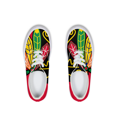 Hawks Four Feathers Lace Up Canvas Shoe - LuvArt Shoes Art Inspired and Custom Footwear Giving Back to the World