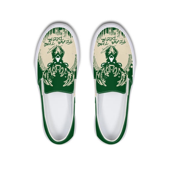 Fear The Deer 1 Slip-On Canvas Shoe - LuvArt Shoes Art Inspired and Custom Footwear Giving Back to the World