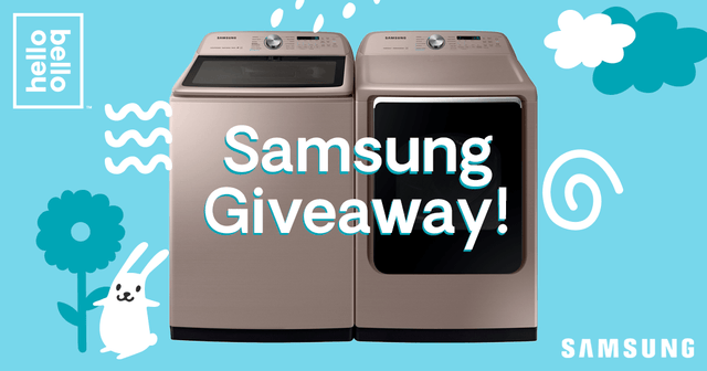Win a Free Samsung Washer/Dryer AND a Year of Hello Bello