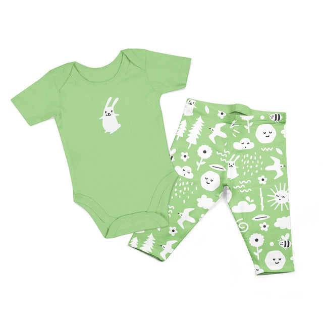 Organic Cotton Bodysuit Set 2PK