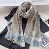 British Style Plaid Men Scarf