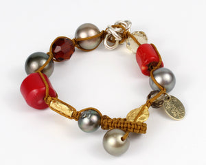 Haute Couture Knitted South Sea Tahitian Pearls Bracelet
