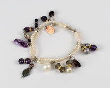 Mini Fresh Water Pearl Bracelet with Charms