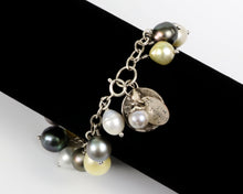 Magnificent Assemble of Tahitian and South Sea Pearl Droplet Bracelet