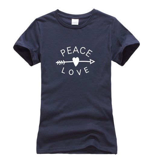 Peace & Love Arrow Women's T-Shirt