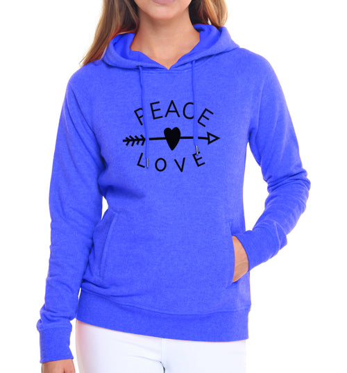 Peace & Love Arrow Women's Hoodie
