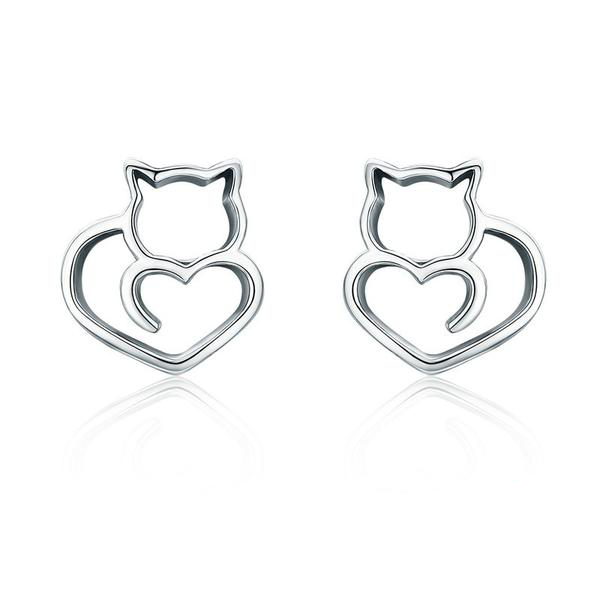 Love Cats Stud Earrings