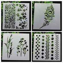 Load image into Gallery viewer, 12/pcs Stencil Designs (70+ designs)