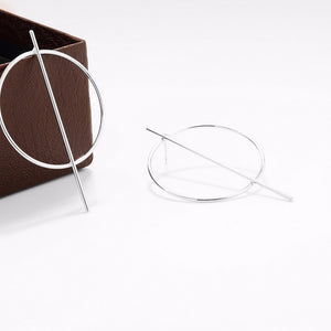 Stylish Modern Hoop Earrings