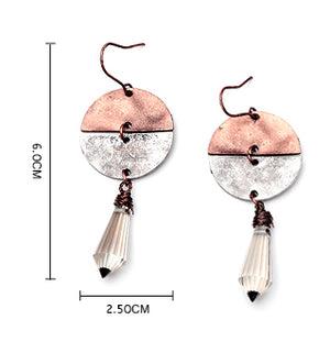 Vintage Water Drop Pendant Earrings
