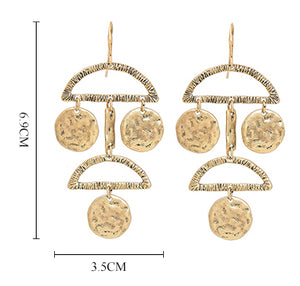 Geometrical Chandelier Earrings